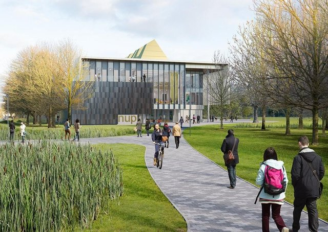 The planned Peterborough university campus on the Embankment.