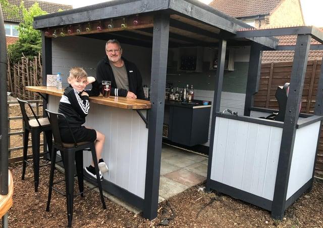 Nicola and Andy's new bar.