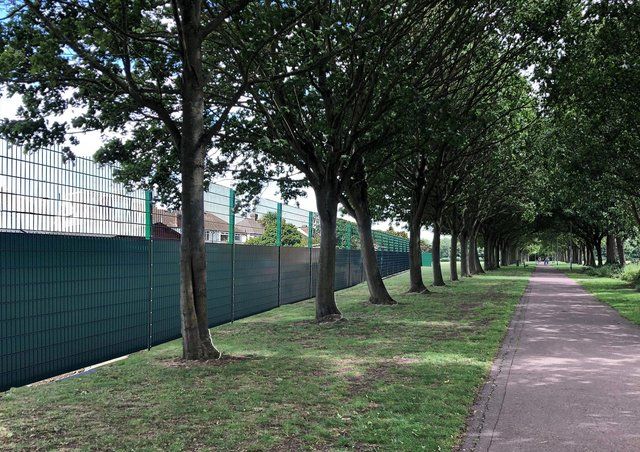 How the planned fencing will look.