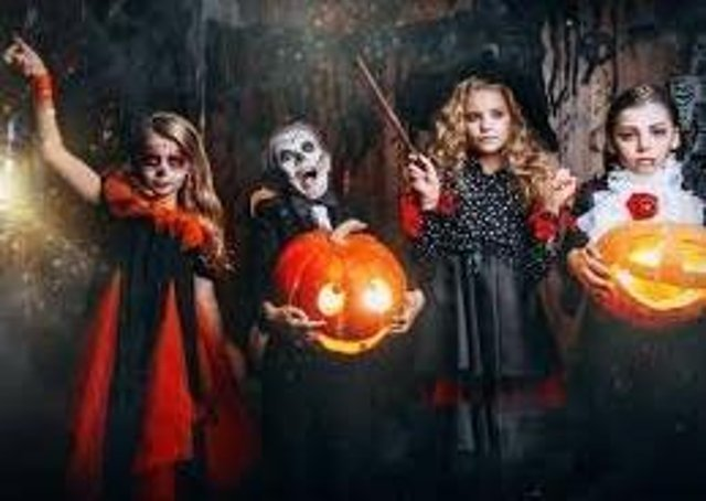 Hallowe'en youngsters.