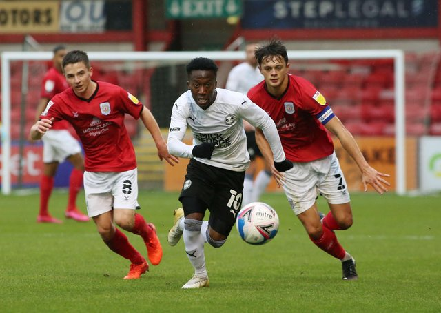 Siriki Dembele in action for Posh.