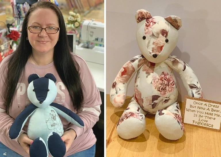 Hayley Mears has been creating memory bears