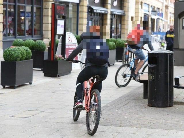 Unauthorised cycling in Bridge Street