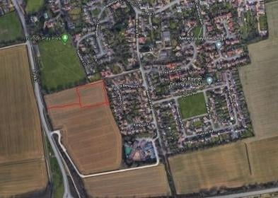 The proposed development site in Glinton