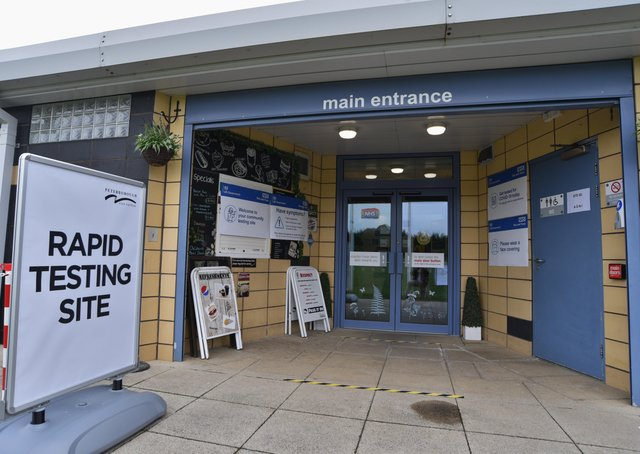 New Covid-19 Rapid testing centre at Nene Valley Community Centre, Woodston.