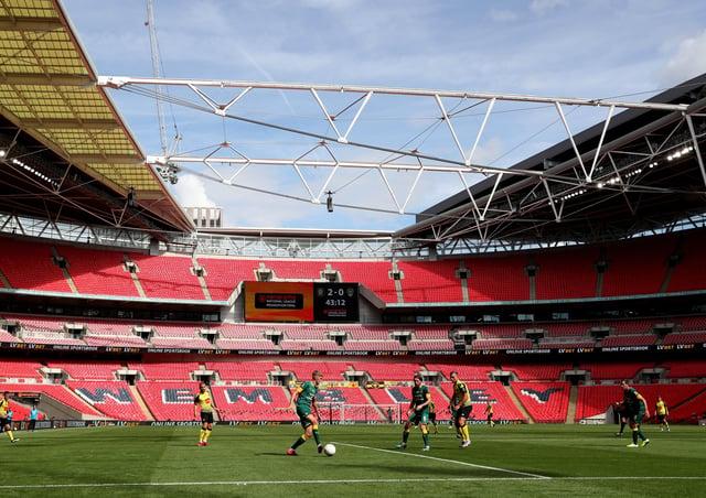 Wembley Stadium.
