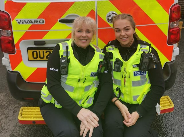 Jacqueline Kelly with her daughter PC Charlie-Ann Brett