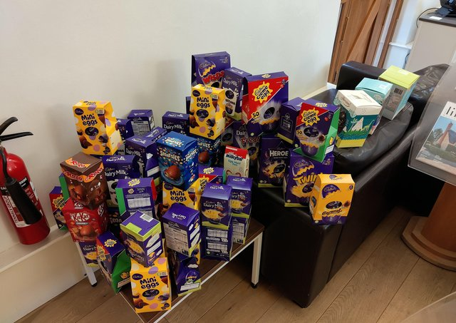 Easter Eggs the Sharman Quinney Group have already collected.