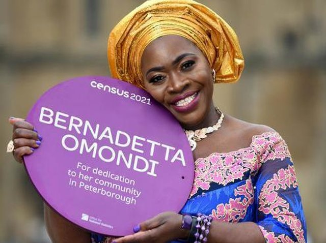 Bernadetta is one of 22 people to be awarded with the special plaque
