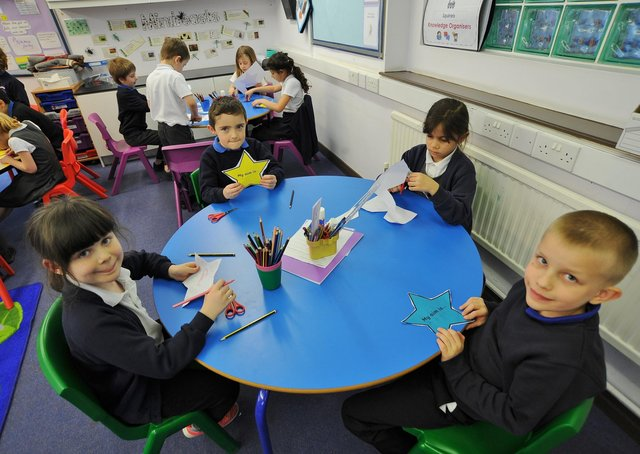 Year 2 pupils get stuck ino some crafts.
