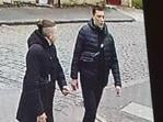 The victim is believed to be the shorter man on the left with the distinctive hair, while the taller man on the right is believed to be a man seen on previously released CCTV running into the Tesco store. Pictures and video: Lancashire Police