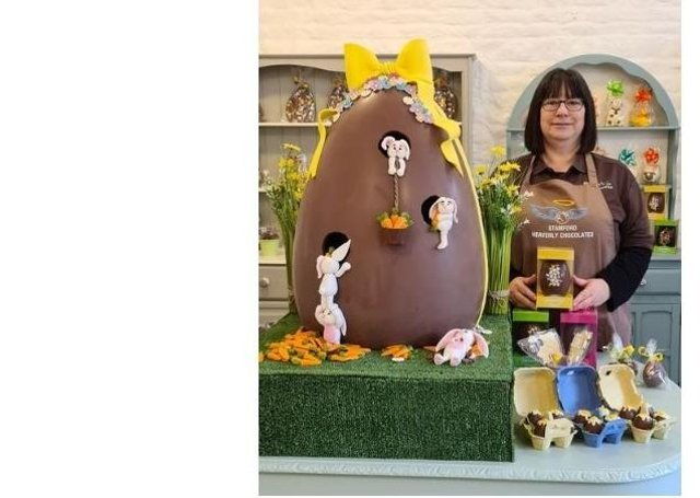 Stamford Heavenly Chocolate's giant Easter Egg.