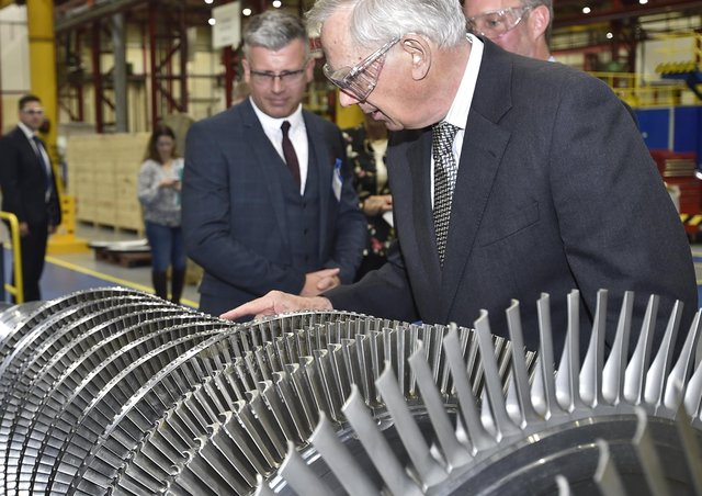 Duke of Gloucester visiting Peter Brotherhoods accompanied by General manager Greg Harding in 2019. EMN-190625-173049009
