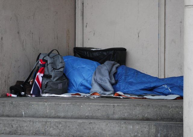 A rough sleeper in Peterborough. Photo: PA EMN-211203-102102001
