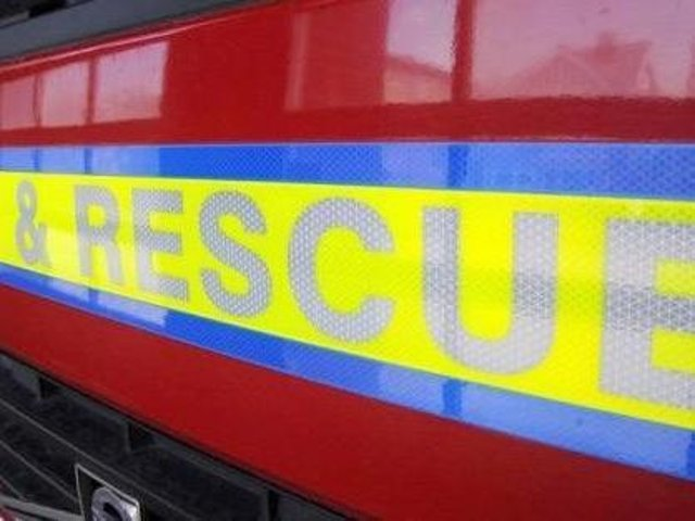 Fire crews were called on Friday evening
