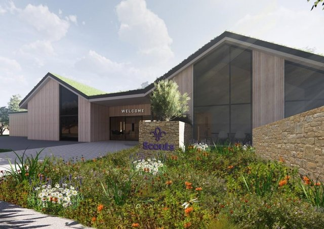 The proposed design of the new Stamford Scout Hut. EMN-210316-103633001