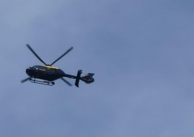 A Police helicopter was heard over Fletton and Longthorpe early this morning (April 5)  Picture: Andrew Crotty