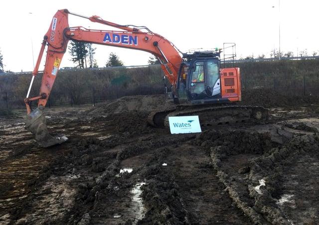 Construction work has begun