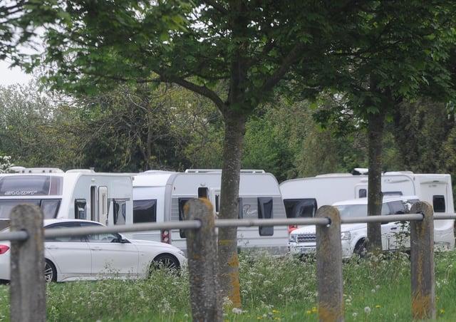 A previous illegal encampment in Petereborough.