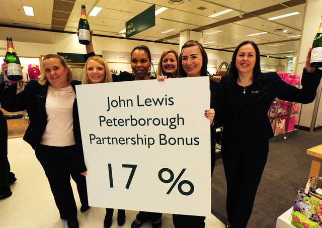 John Lewis staff eight years ago enjoy an annual bonus of 17%.  This year, for the first time, the bonus has been axed. ENGEMN00120130703094547