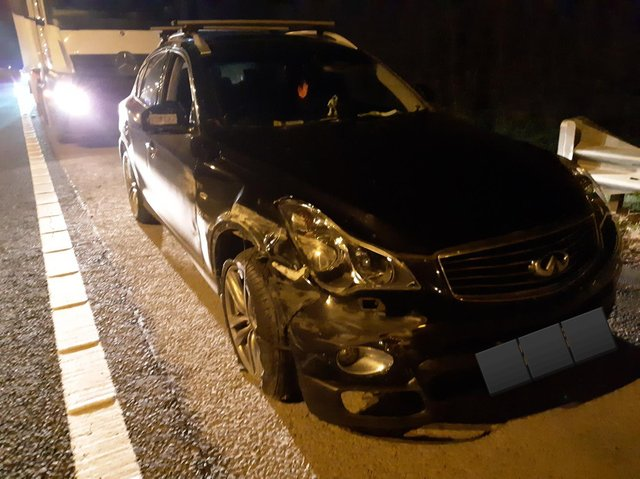 The damaged car. Pic: BCH Road Policing