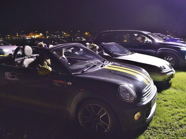 People at a drive in cinema event at the East of England Showground last year