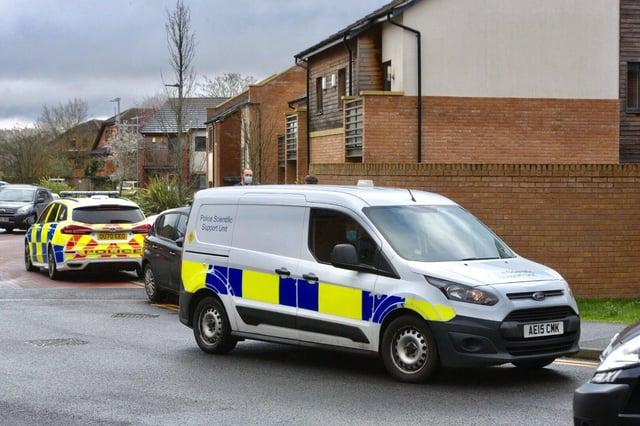 Police at Hawksbill Way