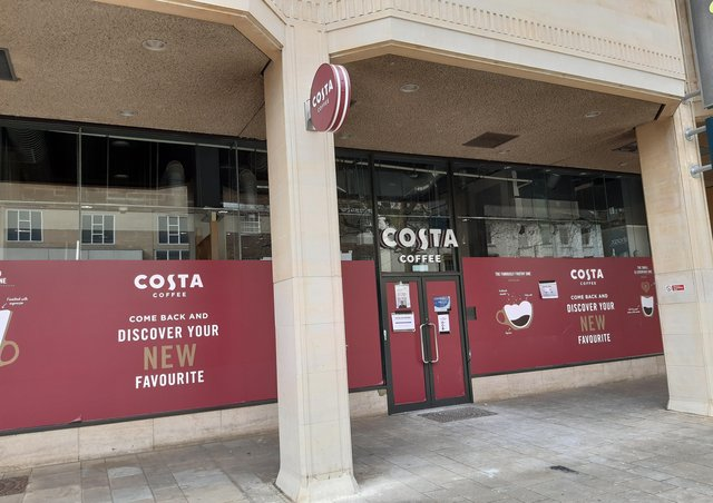 The new Costa Coffee coming to Queensgate.