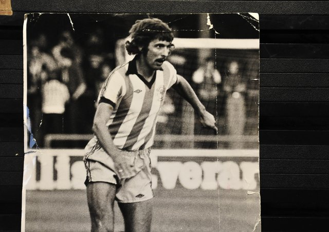 Alan Slough in action for Posh in 1978.
