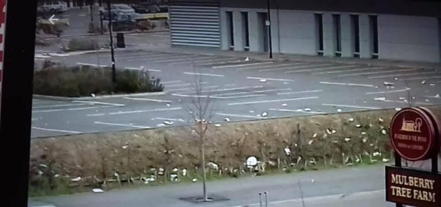 Rubbish left at the car park. Pic: Cllr Howard