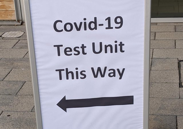 Mobile coronavirus testing site