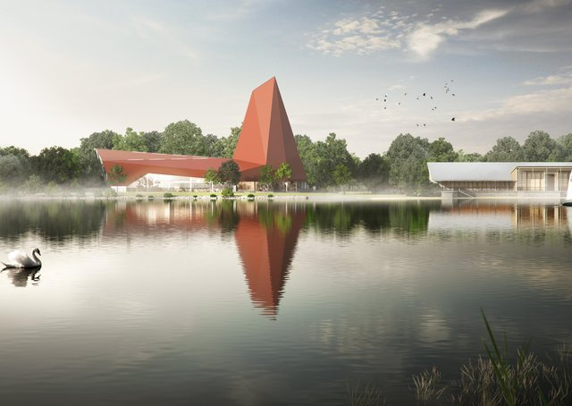 An image of the proposed Climbing Walls planned for Nene Park.