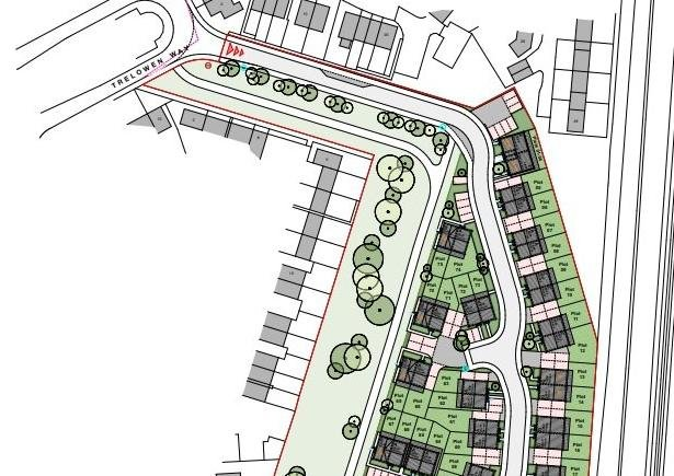 A site plan for the new development