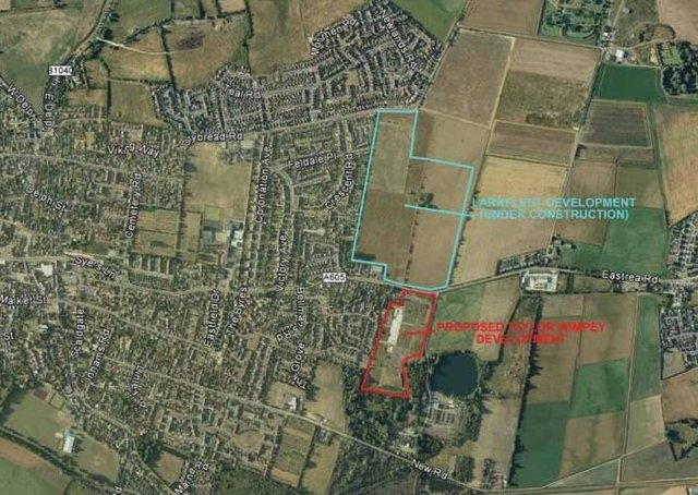 A location plan for the development