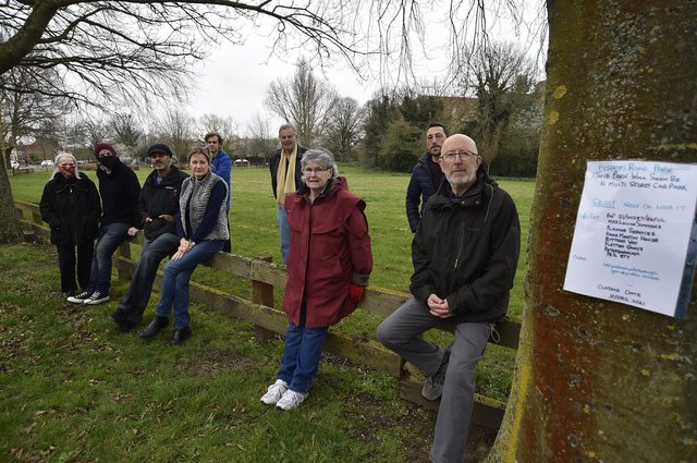 Bishop's Road residents who are campaiging against the location of the new university multi-storey car park EMN-210323-100617009