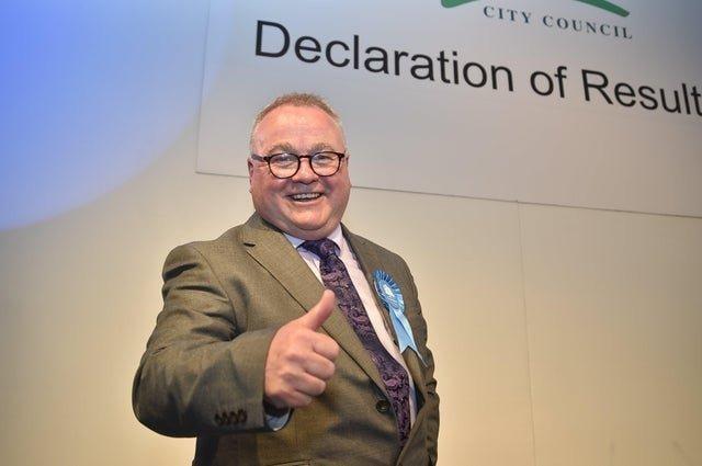 Peterborough City Council deputy leader Cllr Wayne Fitzgerald at a previous election count