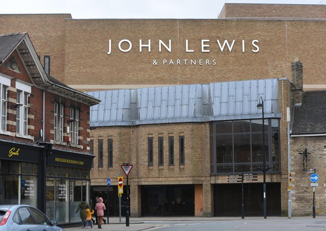 John Lewis has closed its Queensgate store.