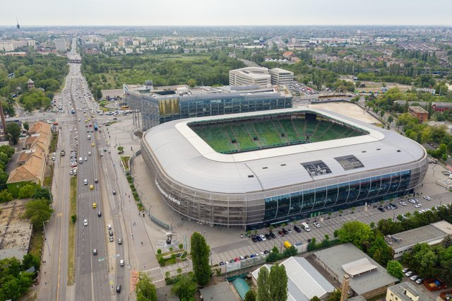Posh hope to build a new stadium like this one in Budapest.