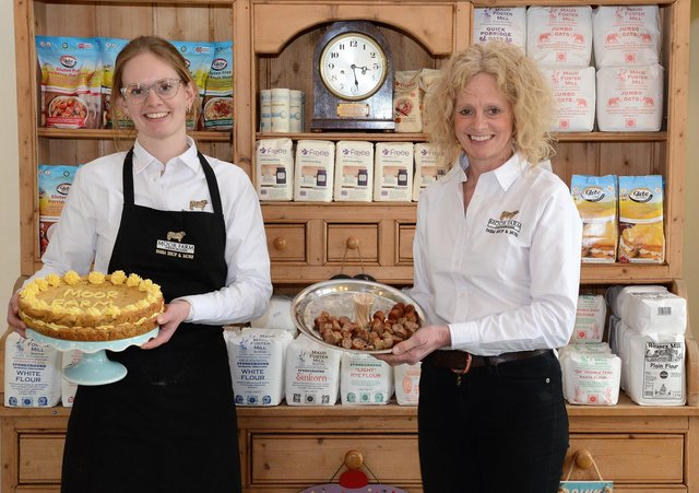 Judith Jacobs and her daughter Rosie in the shop.