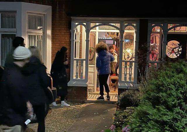 Presenter Fleur East surprises the Peterborough family.