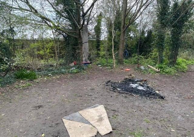 Evidence of anti-social behaviour in The Gannocks, Orton Waterville.