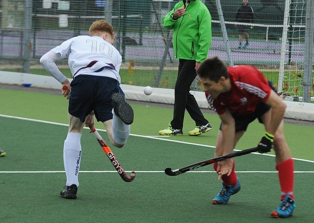 Hockey action at City of Peterborough's Bretton Gate base.