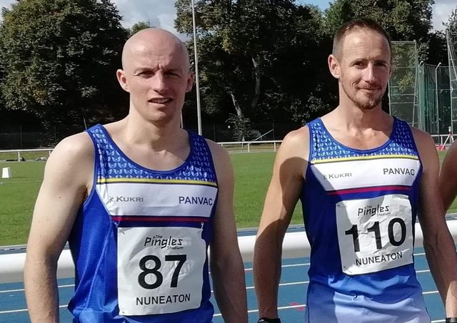 Dave Brown (left) and Sean Reidy will be key performers in the Peterborough Nene Valley Masters team.