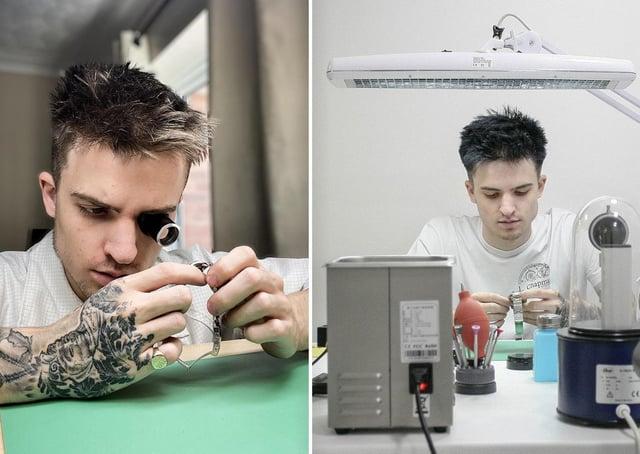 Watch repairer Ross Chapman at work.