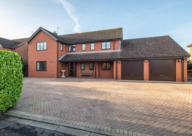 The detached home at The Paddocks in Werrington on the market with Hurfords