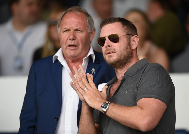 Posh director of football Barry Fry (left) and co-owner Darragh MacAnthony. Photo: Michael Regan Getty Images.