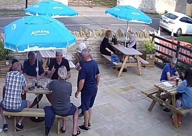 Outdoors at The Bluebell Inn at Helpston.