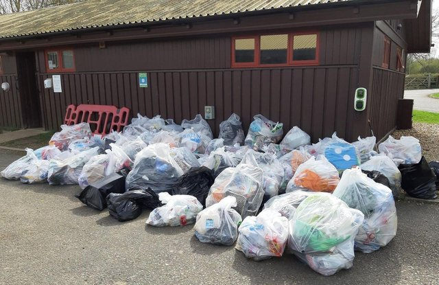 Some of the litter collected