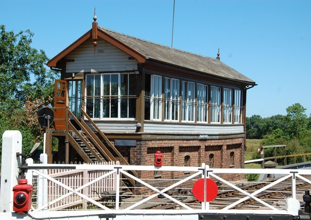 Wansford signal box (Photo by Stan Bell).