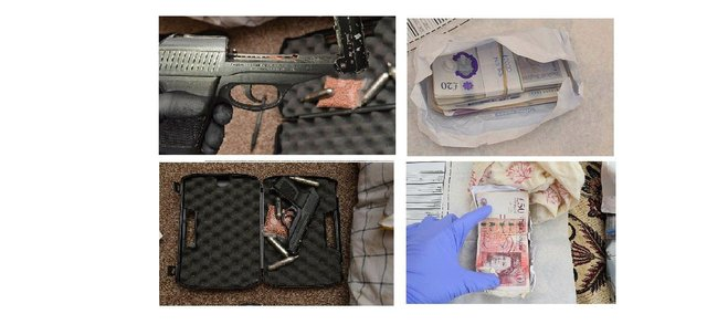 Items seized in the raids